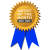 Awarded for being Artist of the Month - November 2007
