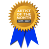 Awarded for being Artist of the Month - September 2007
