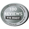 Awarded when user completes 100 reviews.